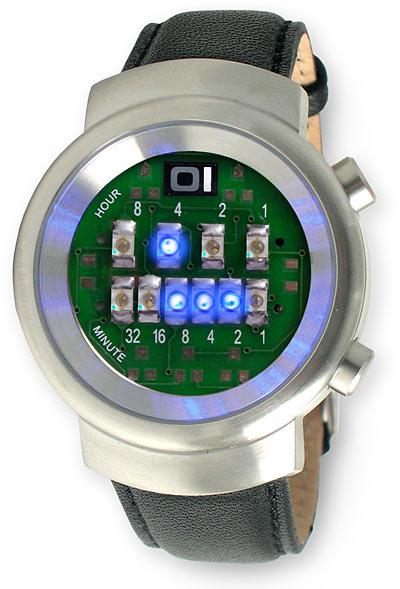 Read time binary watch